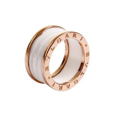 Bvlgari B.ZERO1 18K white ceramic ring