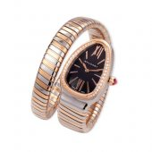 Bvlgari Serpenti Tubogas two-tone pink gold diamond watch SP35BSPGD.1T