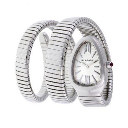 Bvlgari Serpenti Tubogas 35mm luxury steel watch SP35C6SS.2T