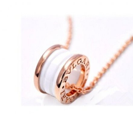 Bvlgari B.ZERO1 necklace white ceramic pink gold pendant