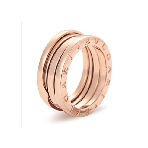 Bvlgari B.ZERO1 3-band ring in 18k pink gold