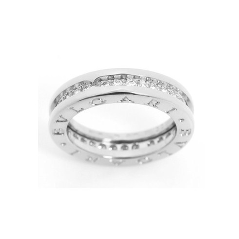 bvlgari bzero1 18k white gold 1band ring paved with diamonds