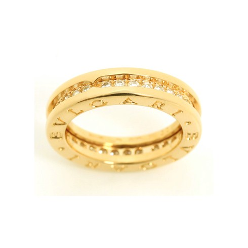 Bvlgari B.ZERO1 18K yellow gold ring with diamonds