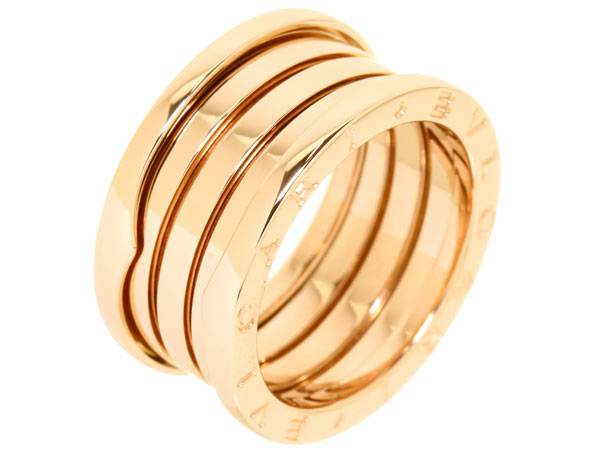 Bvlgari B.ZERO1 4-band pink gold ring AN856732