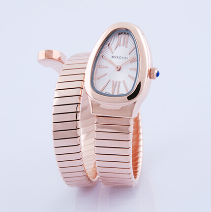 Bvlgari Serpenti Tubogas pink gold luxury watch SPP35BGDG.1T