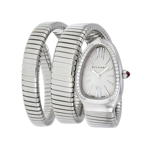 Bvlgari Serpenti Tubogas steel luxury diamond watch SP35C6SDS.2T