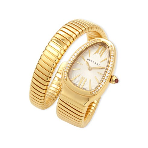 Bvlgari Serpenti Tubogas yellow gold diamond watch SP35C6GDG.1T