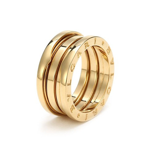 B ZERO1 18K yellow gold 3 band ring